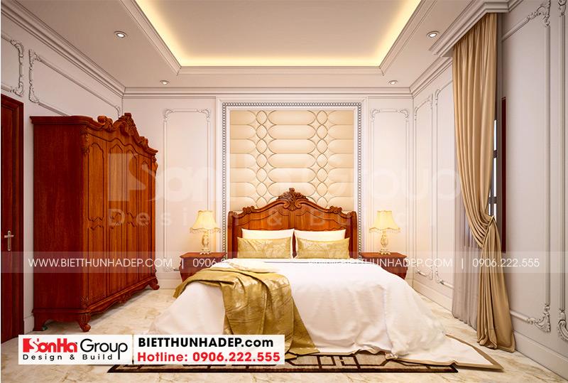 Không gian nội thất phòng ngủ đẹp và khoa học với cách bố trí nội thất vô cùng ngăn nắp, hợp phong thủy