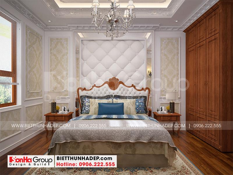 Không gian phòng ngủ ấm cúng, riêng tư với nội thất tân cổ điển sang trọng