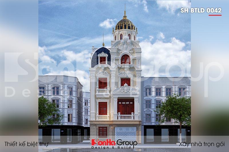 BÌA biệt thự lâu đài mini 4 tầng mặt tiền 7,6m tại hưng yên sh btld 0042