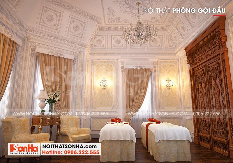 Mẫu nội thất phòng gội đầu tiện nghi dành cho biệt thự lâu đài tại Hà Nội