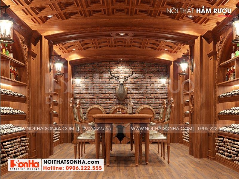 Mẫu nội thất hầm rượu thiết kế đẹp theo đúng nguyện vọng của chủ đầu tư