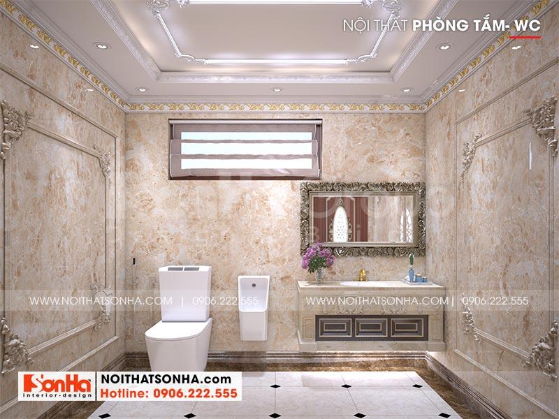 Mẫu nội thất phòng tắm, nhà vệ sinh đẹp bố trí khoa học trong mỗi phòng ngủ biệt thự