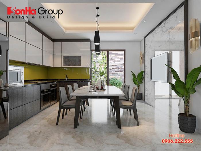 Giải pháp bố trí nội thất phòng bếp ăn hiện đại i gọn gàng và ngăn nắp với đúng công năng mà chủ nhân đặt ra
