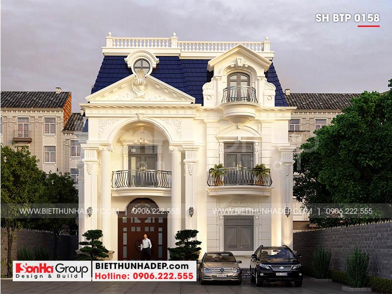Mẫu thiết kế biệt thự 3 tầng 10,3x18,85m kiến trúc tân cổ điển tại Đà Nẵng