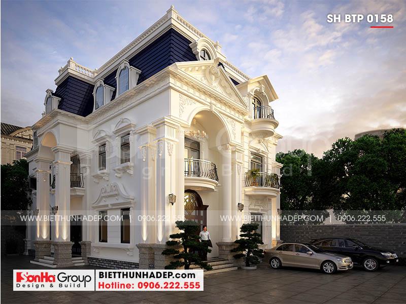 Mẫu biệt thự tân cổ điển 3 tầng đẹp chinh phục mọi ánh nhìn