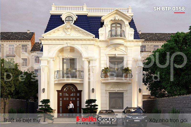 BÌA kiến trúc biệt thự tân cổ điển 3 tầng 2 mặt tiền tại đà nẵng sh btp 0158