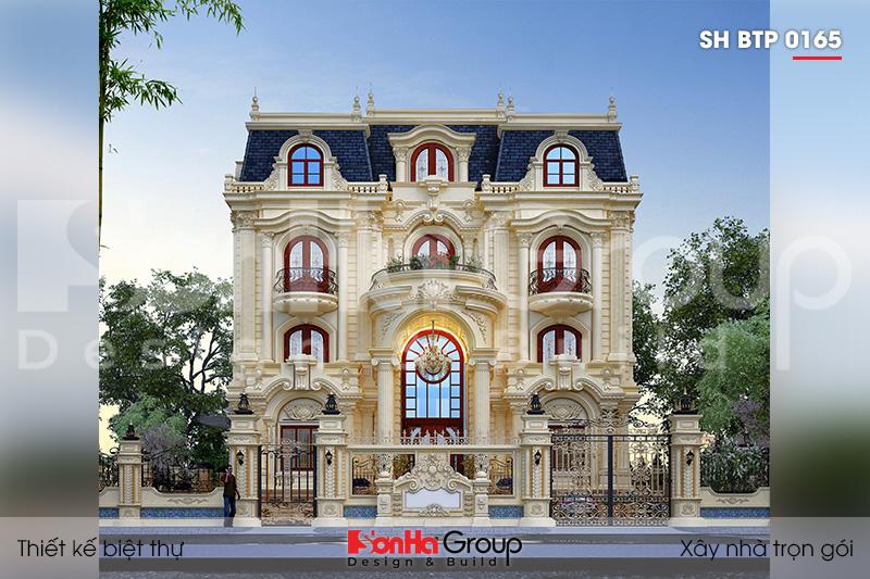 Ngơ ngác trước vẻ đẹp sang trọng của thiết kế biệt thự tân cổ điển 4 tầng tại Đà Nẵng – SH BTP 0165